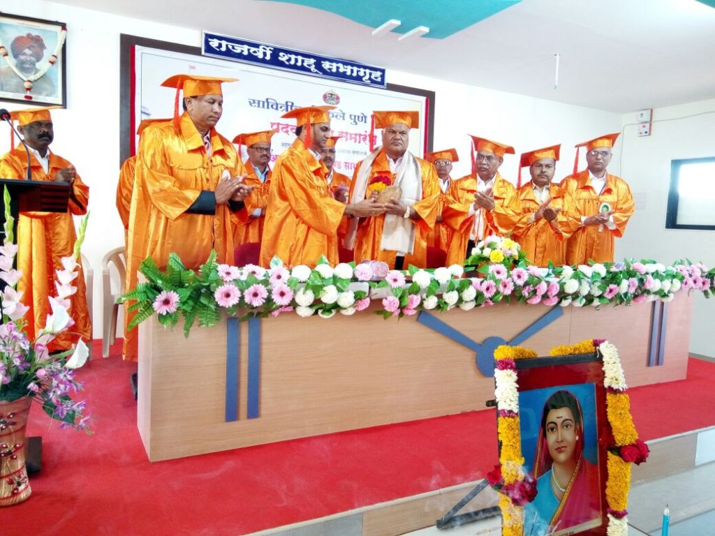 College Convocation Cermony 2016 Dr. Shridhar JadhavAcademic Coordinatotr SPPU And Pri. B.H.Zaware